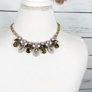 J. Crew Statement Necklace Beaded Rhinestone